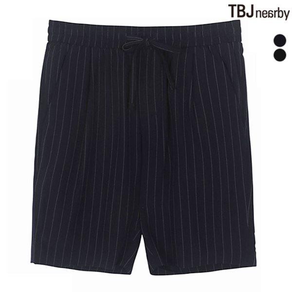 [TBJ]남성 5부 TR 스트라이프 올밴딩 슬랙스 팬츠(T182PT541P)