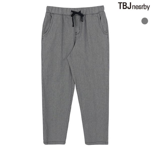 [TBJ]여성 9부 코튼 기본핏 스트라이프 올밴딩 팬츠(T182PT750P)