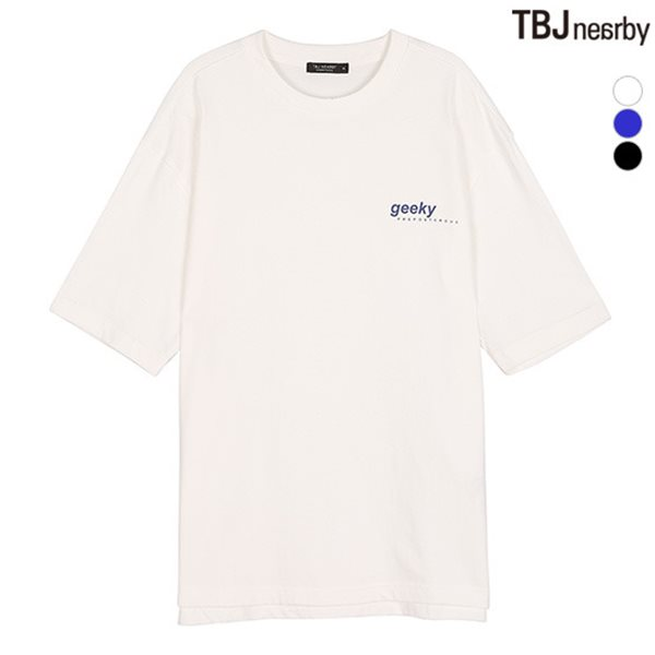 [TBJ]남성 싱글 뒷판 전사프린트 티셔츠(T182TS006P)