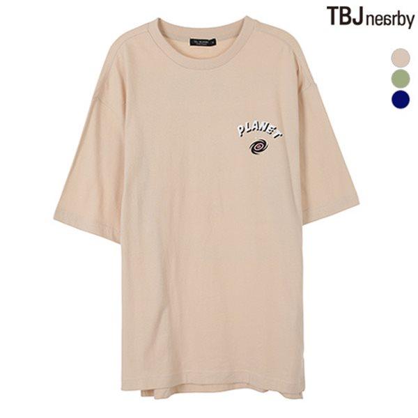 [TBJ]남성 싱글 뒷판 레터링 티셔츠(T182TS010P)