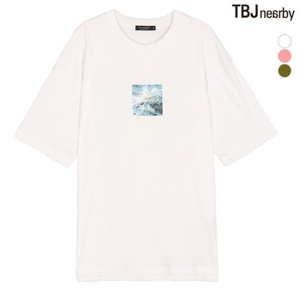 [TBJ]남성 싱글 앞뒤판 전사프린트 티셔츠 -1(T182TS030P)