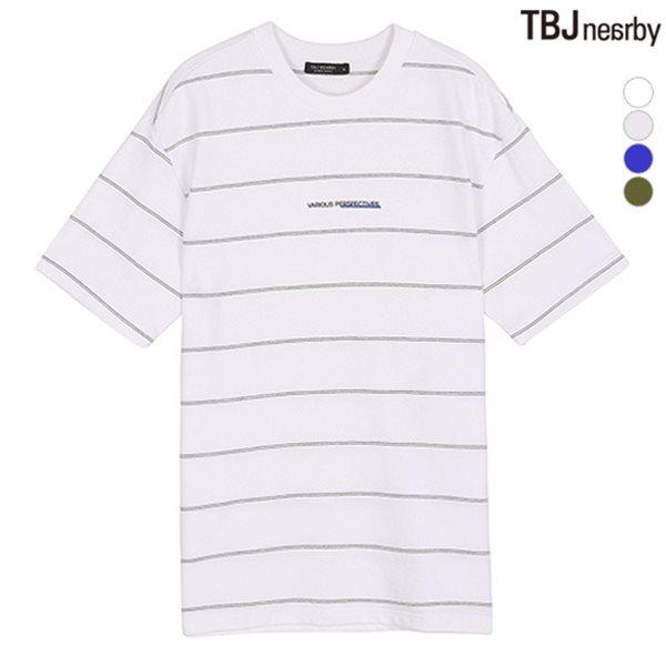 [TBJ]유니 미니쮸리 핀스트라이프 티셔츠(T182TS082P)