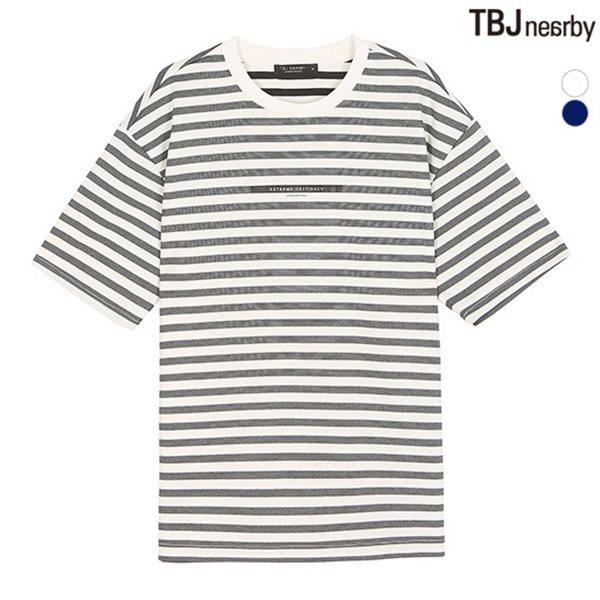 [TBJ]유니 분또 변형 스트라이프 티셔츠(T182TS083P)