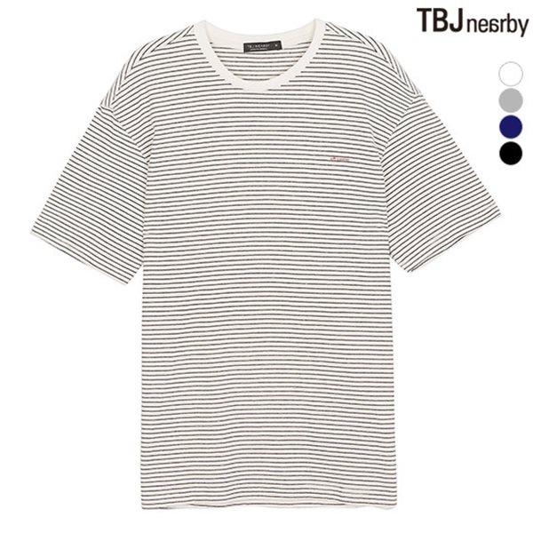 [TBJ]유니 싱글 스트라이프 티셔츠(T182TS100P)
