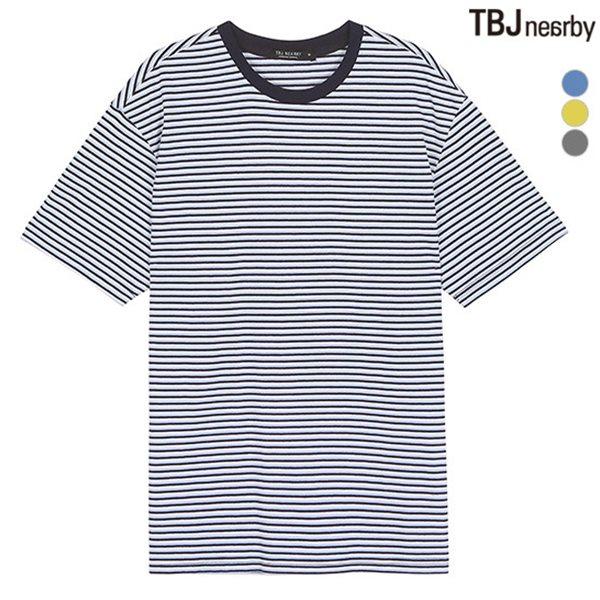 [TBJ]유니 싱글 멀티 스트라이프 티셔츠(T182TS110P)