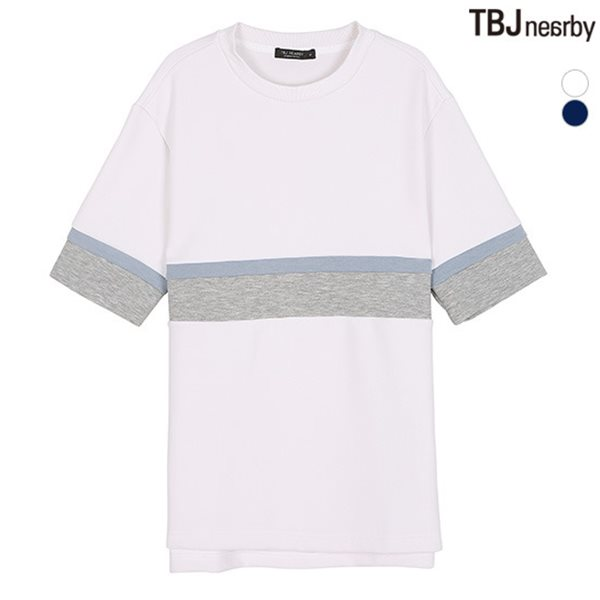 [TBJ]남성 네오프랜 절개배색 티셔츠(T182TS120P)