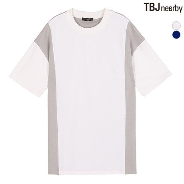 [TBJ]남성 분또 세로 절개배색 티셔츠(T182TS130P)