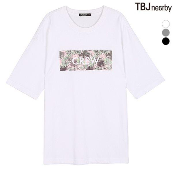 [TBJ]여성 싱글 전사프린트 루즈핏 티셔츠(T182TS650P)