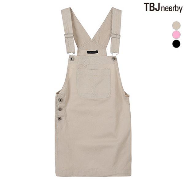[TBJ]여성 3부 코튼 오버롤 스커트(T182SK900P)