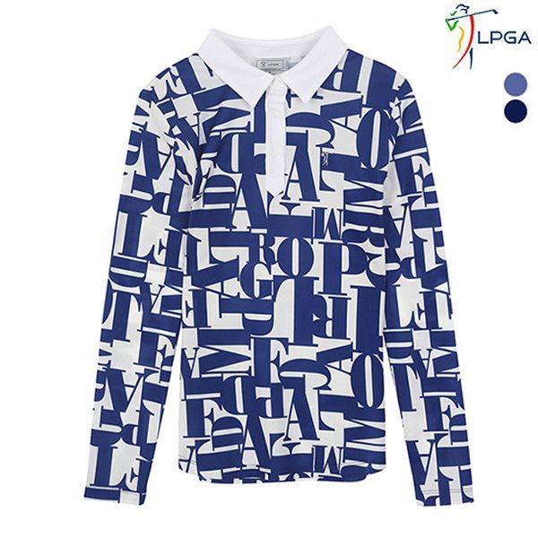 [LPGA]여성 레터링 패턴 제에리 티셔츠(L181TS651P)