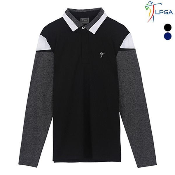 [LPGA]남성 절개배색 디테일 제에리 티셔츠(L181TS252P)