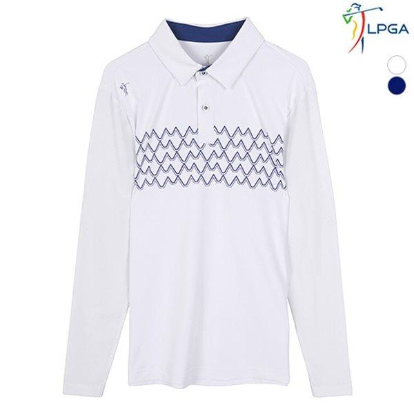 [LPGA]남성 패턴포인트 메쉬소매 제에리 티셔츠(L181TS253P)