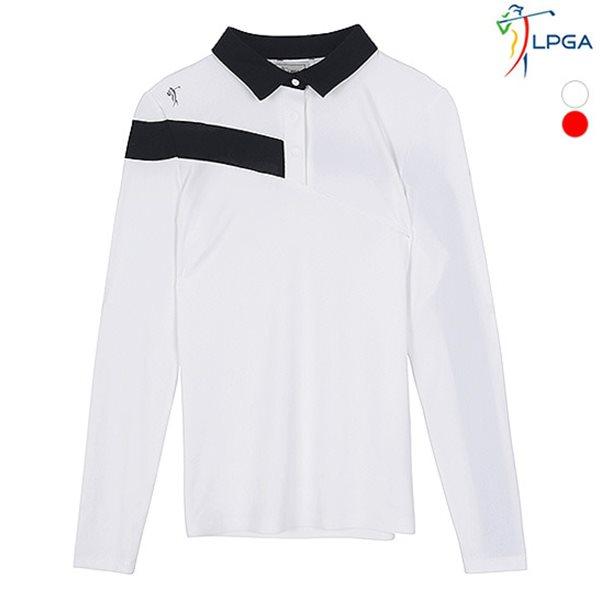 [LPGA]여성 TURNPRO SWING 패턴 제에리 티셔츠 [수입원단](L181TS654P)