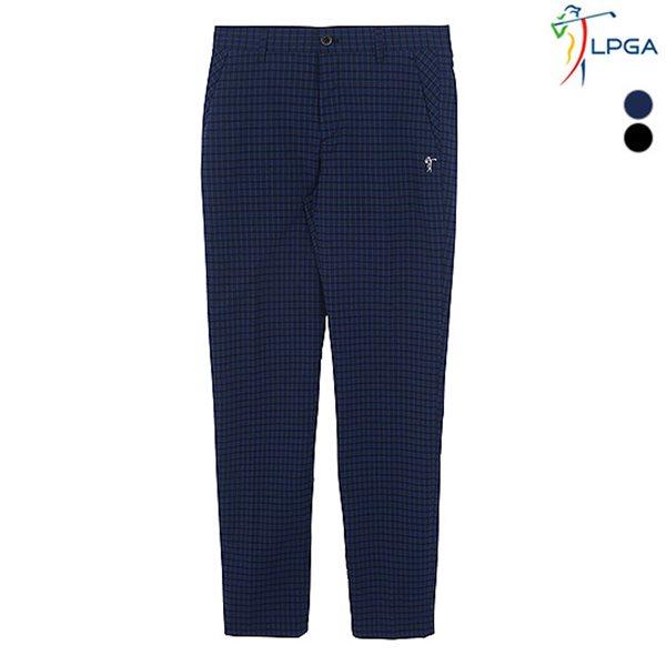 [LPGA]남성 선염체크 패턴 팬츠(L182PT181P)