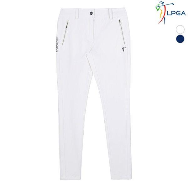 [LPGA]LPGA바지 골프웨어 여성 사이드 포인트 골프 팬츠(L181PT504P)