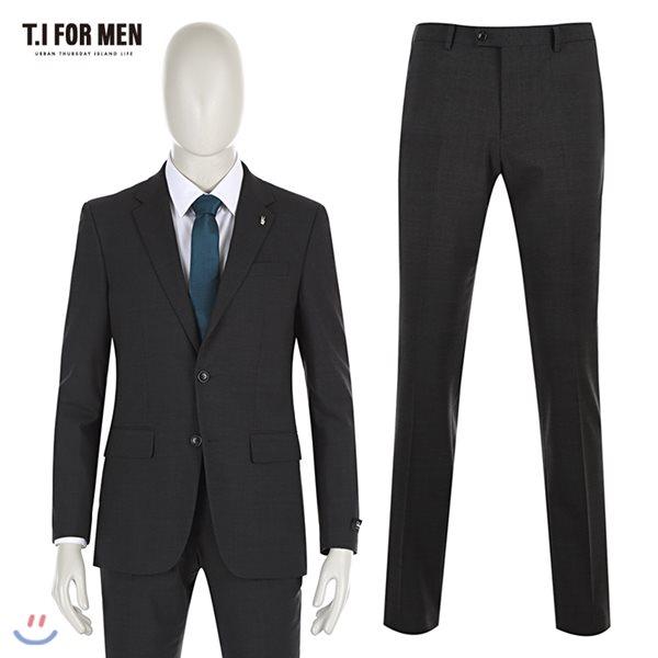 [TI FOR MEN] 티아이포맨 모혼방 투버튼 정장수트 M162MTJ123M1GY4_M162MTP123M1GY4