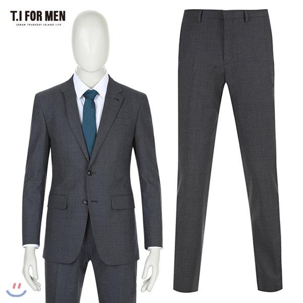 [TI FOR MEN] 티아이포맨 모혼방 투버튼 정장수트 M162MTJ801M1GY3_M162MTP801M1GY3