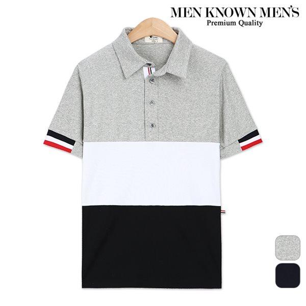 [MKM9]공용 토미 3단배색 카라티셔츠