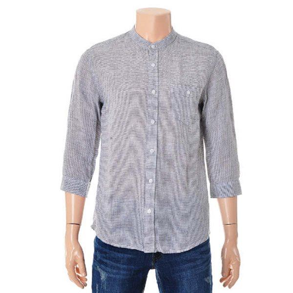 [ANDEW]남성용 스텐칼라 패턴린넨 7부 셔츠(O172SH440P)
