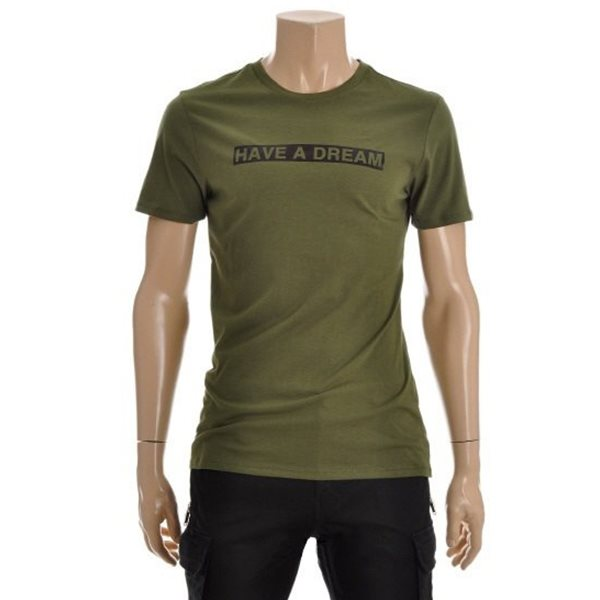 [ANDEW]유니 호일프린트 티셔츠(O162Z2055P)