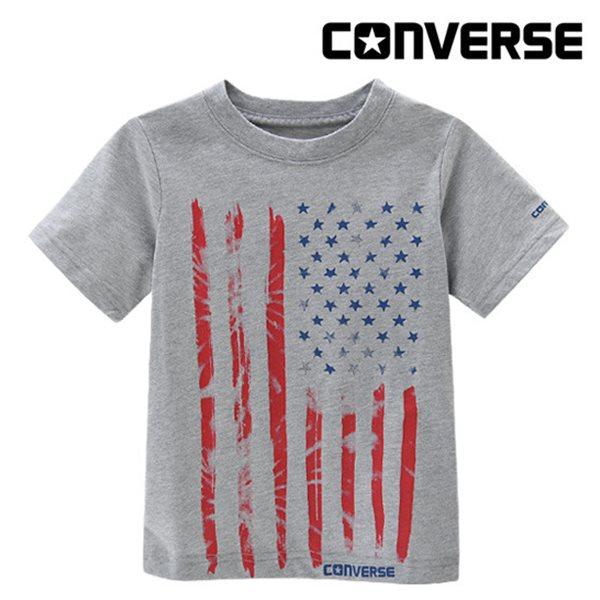 [컨버스키즈] 빈티지플래그 티셔츠(반팔)L ENM11QTS95 (키즈)
