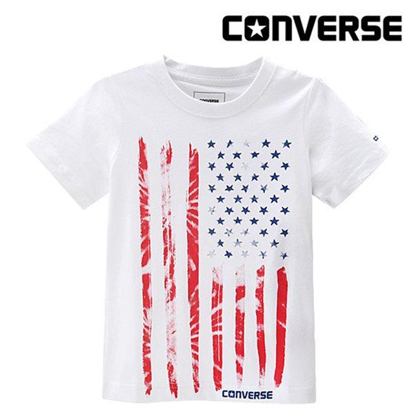 [컨버스키즈] 빈티지플래그 티셔츠(반팔)B ENM13QTS95 (주니어)