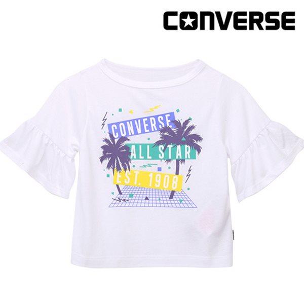 [컨버스키즈] 러플슬리브 티셔츠(반팔)B ENM13ATS90 (주니어)