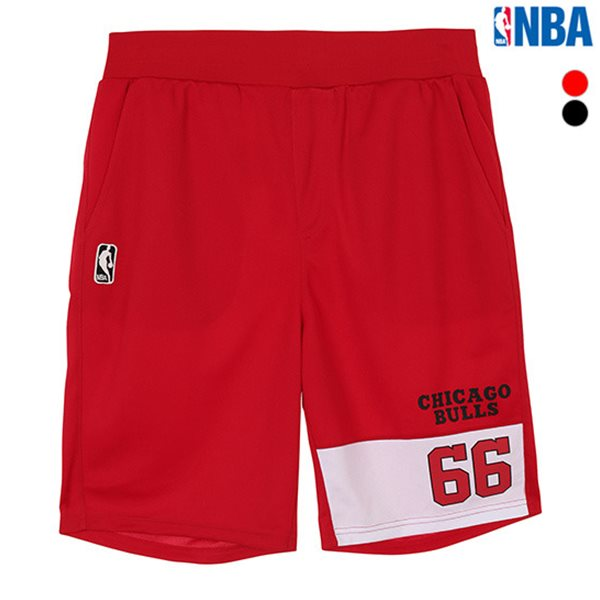 [NBA]CHI BULLS 팀로고 절개 반바지(N182TP450P)