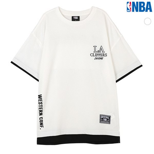 [NBA]LAC CLIPPERS MESH 레이어드 루즈핏 티셔츠(N182TS302P)