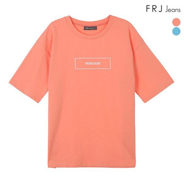 [FRJ] 여름신상 여성 박스레터링티셔츠 (F82F-TM533A)