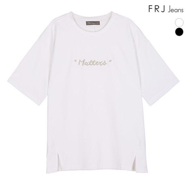 [FRJ] 여름신상 여성 볼륨자수옆트임티셔츠 (F82F-TM543A)
