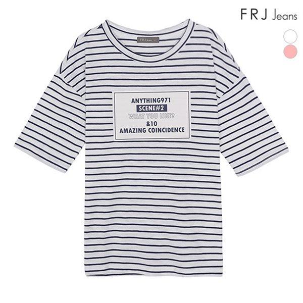 [FRJ] 여름신상 여성 박스프린트ST슬럽티셔츠 (F82F-TM553B)