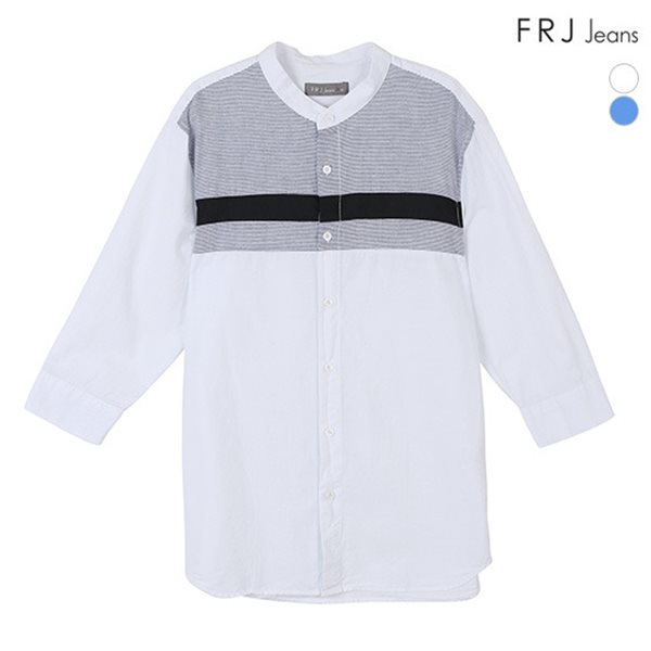 [FRJ] 여름신상 남성 절개배색7부소매차이나카라셔츠 (F82M-SH142B)
