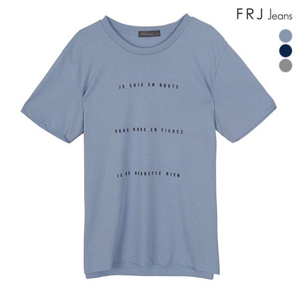 [FRJ] 여름신상 남성 세줄1도레터링티셔츠 (F82M-TM013B)
