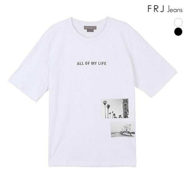 [FRJ] 여름신상 남성 OVER레터링박스사진티셔츠 (F82M-TM213B)