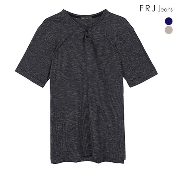 [FRJ] 여름신상 남성 오픈헨리넥선염핀ST티셔츠 (F82M-TM333B)