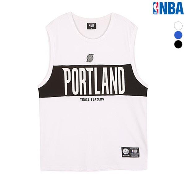 [NBA]POR BLAZERS 레터링 슬리브리스 티셔츠(N182TS455P)