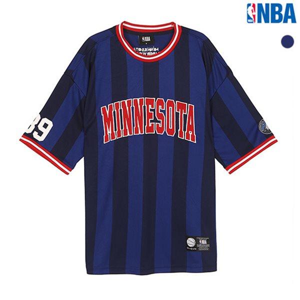 [NBA]MIN TIMBERWOLVES 스트라이프 루즈핏 티셔츠(N182TS352P)