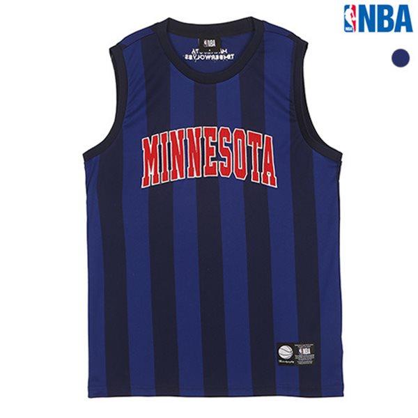 [NBA]MIN TIMBERWOLVES 스트라이프 슬리브리스 티셔츠(N182TS452P)