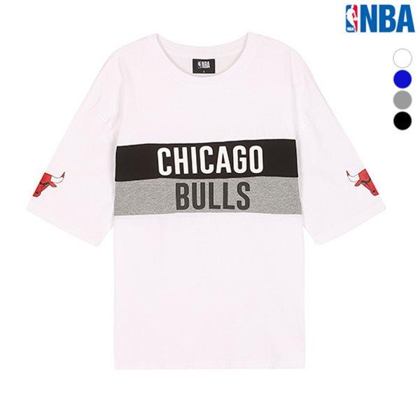 [NBA]MIN TIMBERWOLVES 컬러블록 루즈핏 티셔츠(N182TS050P)