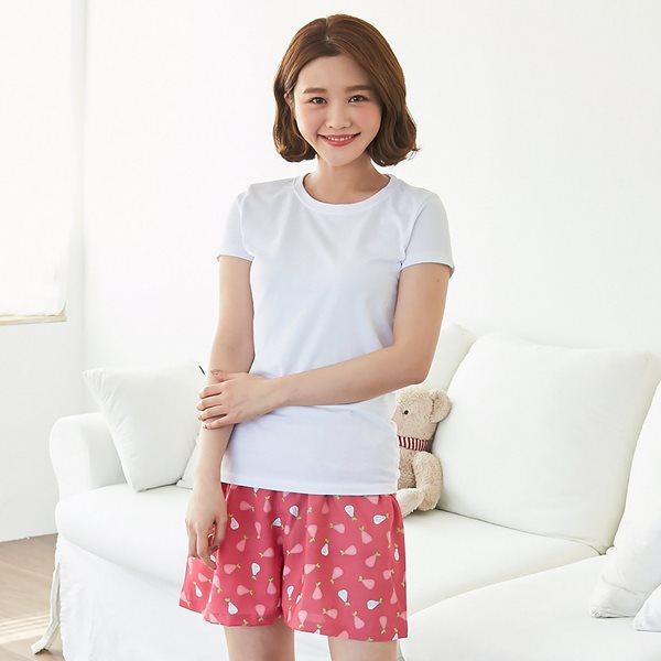 핑코코 338 퓨리 레이온 3부바지/파자마/여름잠옷