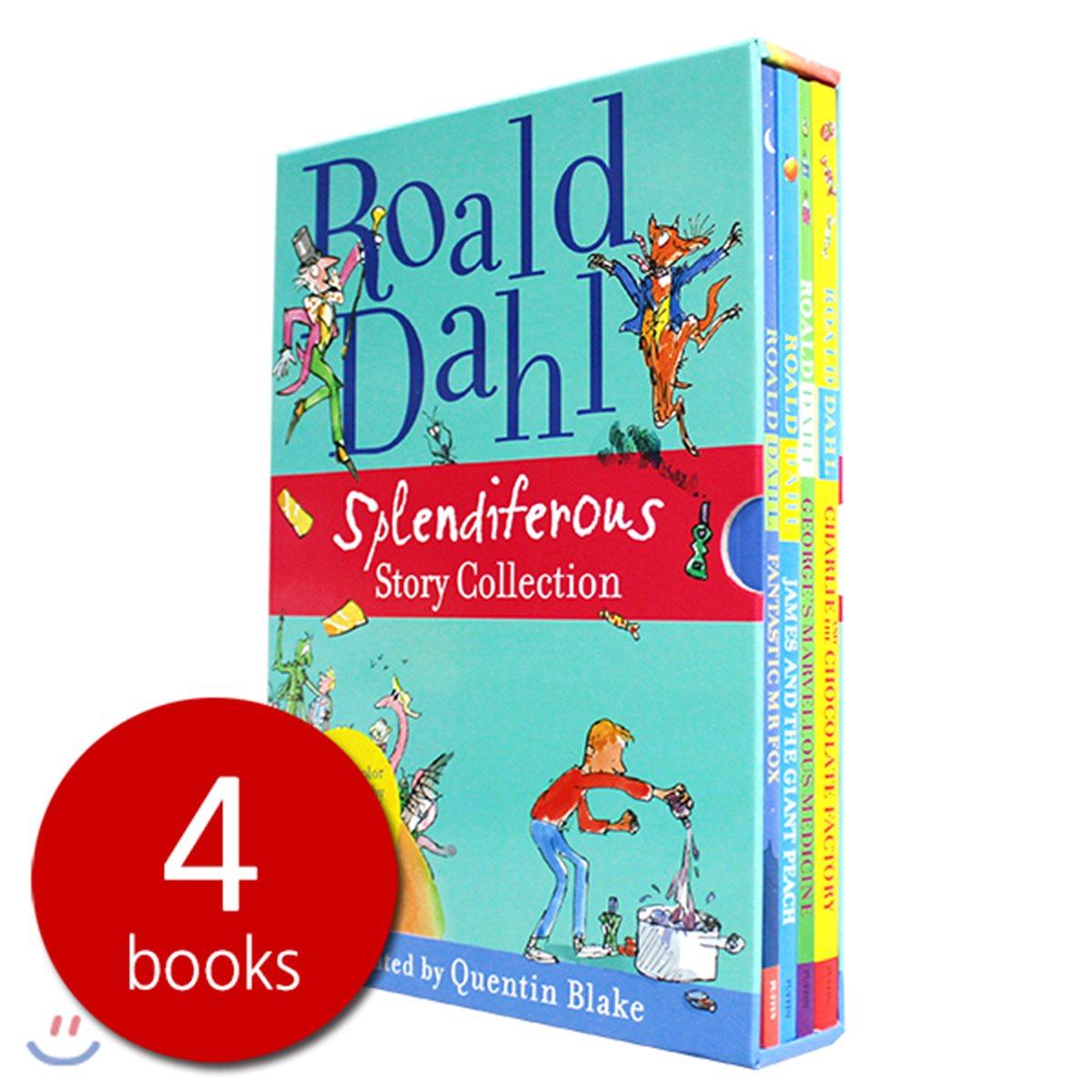 로알드달 베스트 빅북 4종 박스 세트 (영국판 / 올컬러 일러스트판) : Roald Dahl Splendiferous Story Collection