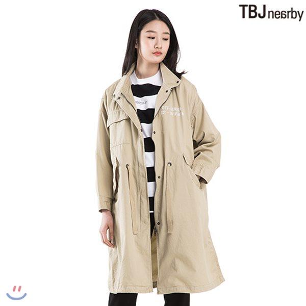 [TBJ]여성 롱기장 루즈핏 야상점퍼(T182JP820P)