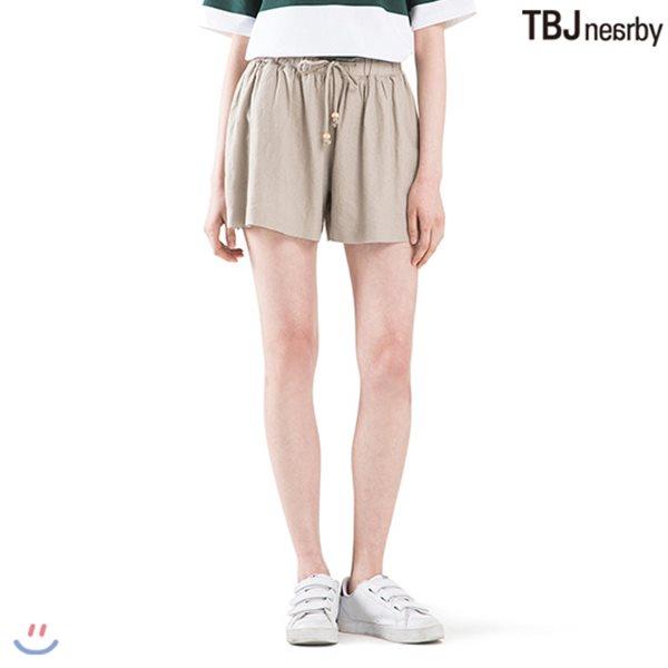 [TBJ]여성 3부 코튼린넨 플레어 큐롯 팬츠(T182PT630P)