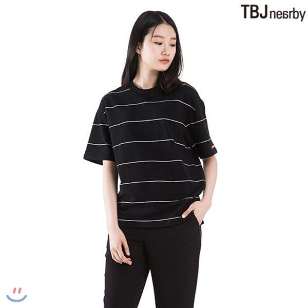 [TBJ]유니 미니쮸리 핀스트라이프 티셔츠(T182TS081P)
