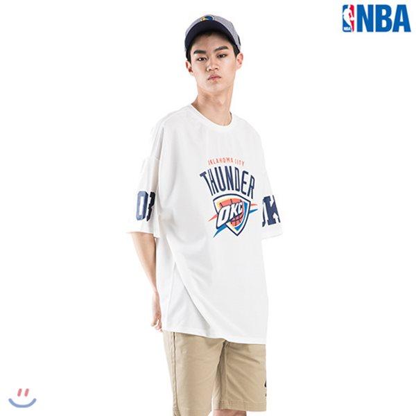 [NBA]OKC THUNDER MESH 팀로고 티셔츠(N182TS350P)