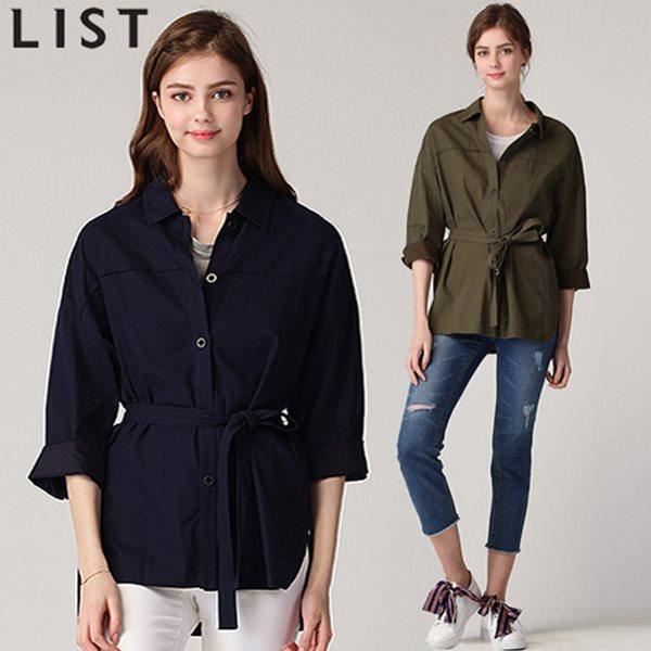 [리스트(LIST)] summer 린넨소재 벨티드 자켓형 셔츠