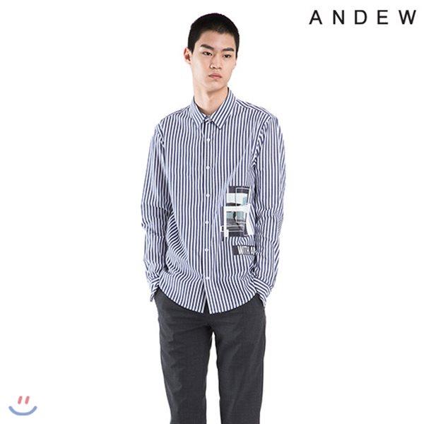 [ANDEW]남성 기본카라 아트웍 스트라이프SH(O182SH140P)