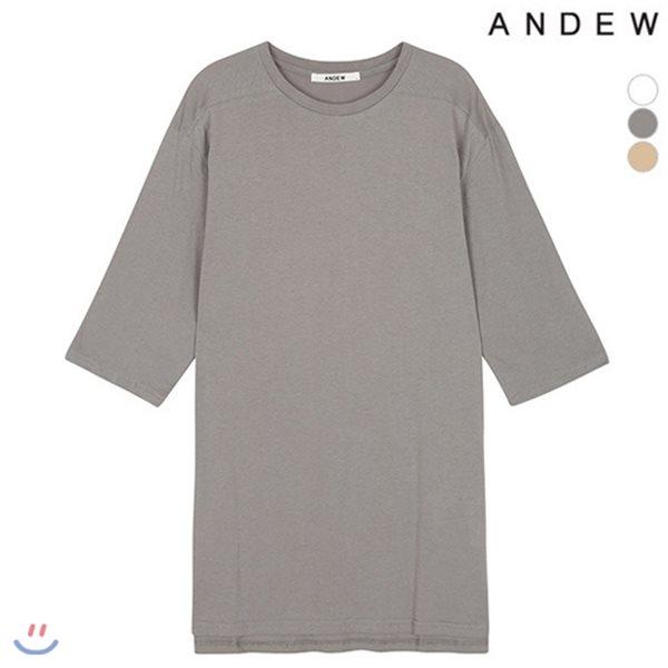 [ANDEW]유니 7부소매 롱 티셔츠(O152TS099P)