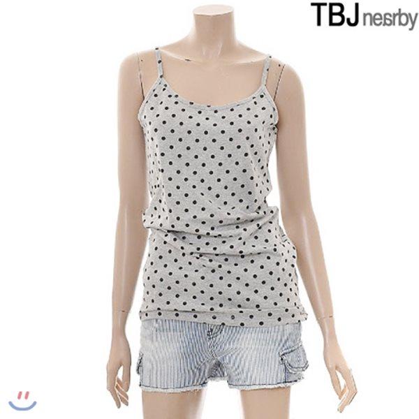 [TBJ]여성 전판프린트 끈 나시(T142TS570P)